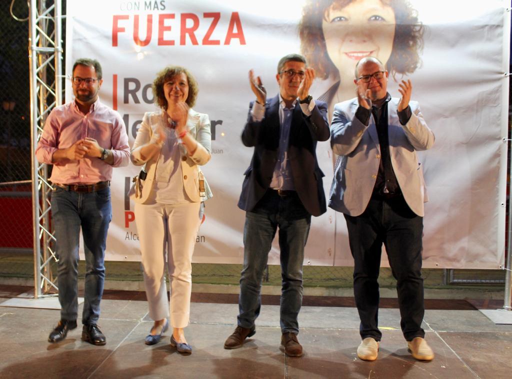 Patxi López pone de ejemplo la gestión de Rosa Melchor al frente del ayuntamiento de Alcázar