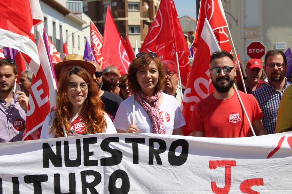 El PSOE de Alcázar se suma un año más a la manifestación del 1º de mayo