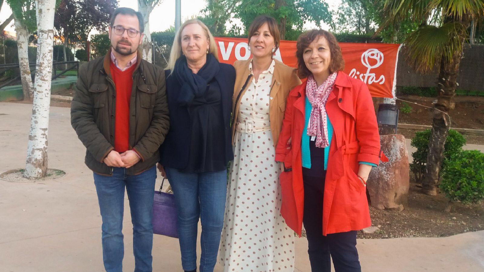 Acto fin de Campaña en la Piscina Municipal de Alcázar de San Juan